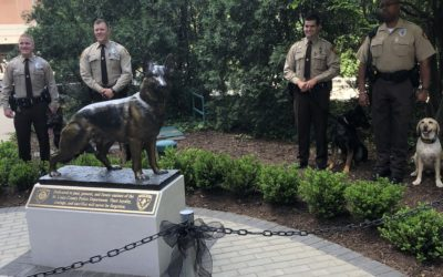 Honoring Police Dogs, Sculpture Setting